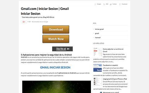 Screenshot of Home Page gmail-com.org - Gmail.com | Iniciar Sesion | Gmail Iniciar Sesion - captured June 14, 2016