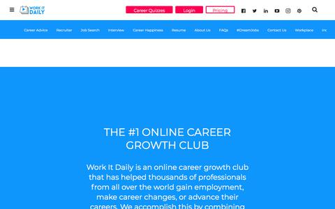 Screenshot of Pricing Page workitdaily.com - (1) New Message! - captured Aug. 17, 2019
