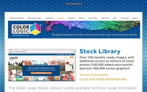Screenshot of Products Page color-logic.com - COLOR-LOGIC   Special Effects for Print - captured Nov. 9, 2016