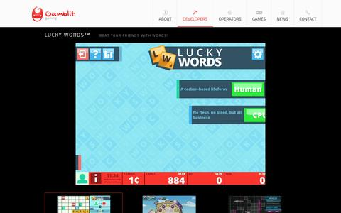 Screenshot of Developers Page gamblitgaming.com - Developers : Gamblit Gaming - captured July 3, 2015