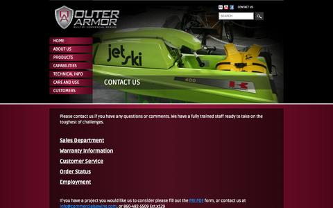 Screenshot of Contact Page Jobs Page commercialsewing.com - Contact Us - captured Oct. 22, 2014