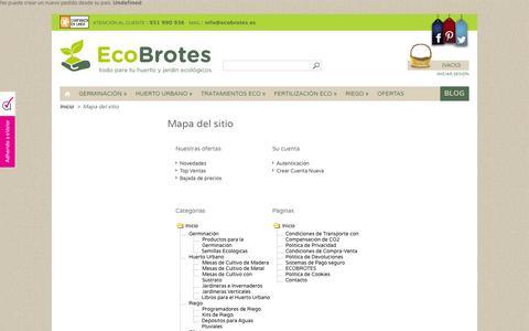 Screenshot of Site Map Page ecobrotes.es - Mapa del sitio - EcoBrotes - captured Sept. 23, 2014