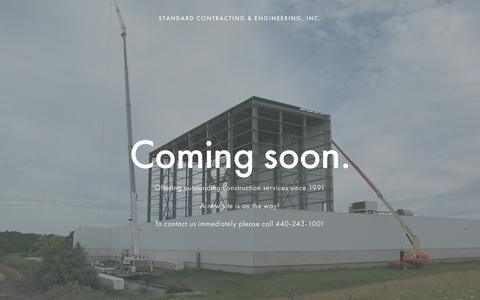 Screenshot of Home Page standardcontracting.com - Standard Contracting & Engineering, Inc. - captured May 29, 2019