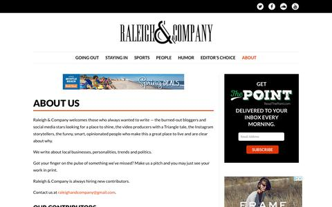 Screenshot of About Page raleighco.com - About Us - Raleigh & Company - captured March 20, 2018