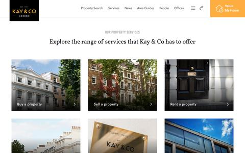 Screenshot of Services Page kayandco.com - Our Property Services | Kay & Co - captured Oct. 17, 2017