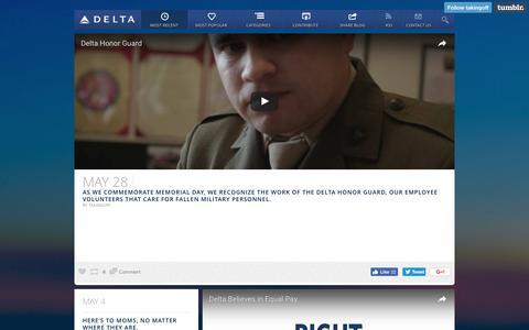 Screenshot of Blog delta.com - TAKING OFF  — Most Recent - captured Dec. 8, 2016