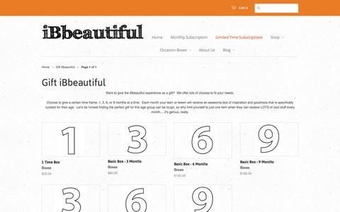 Screenshot of Products Page ibbeautiful.com - Gift iBbeautiful - iBbeautiful - captured Sept. 30, 2014
