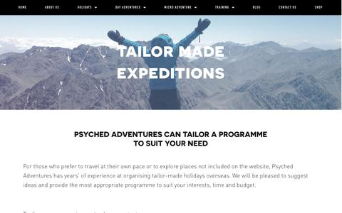 Tailor Made Expeditions — Psyched Adventures