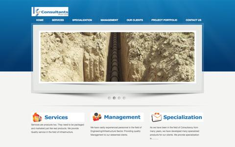 Screenshot of Home Page kyconsultants.in - K.Y .Consultants Pvt. Ltd. - captured Oct. 8, 2014