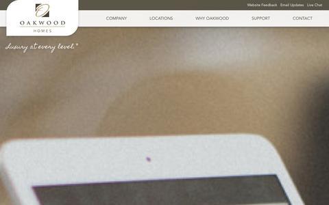 Screenshot of Support Page oakwoodhomesco.com - Support - Oakwood Homes - captured Nov. 4, 2014