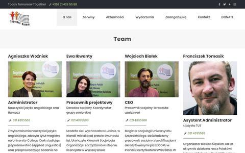 Screenshot of Team Page together-razem.org - Team - Centrum Together-Razem - captured Nov. 22, 2018