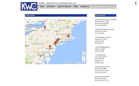 Screenshot of Maps & Directions Page kwcllp.com - Directions | KEIDEL, WELDON & CUNNINGHAM, LLP. - captured Nov. 27, 2016