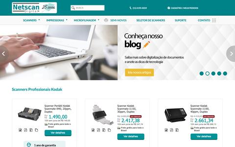 Screenshot of Home Page netscandigital.com - Netscan Digital| Scanners, Impressoras e Microfilmagem. - captured Oct. 20, 2018