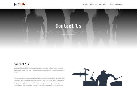 Screenshot of Contact Page fourteeng.net - Contact Us   Fourteeng - captured Aug. 21, 2018