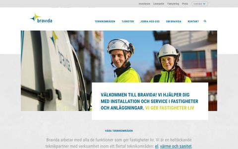 Screenshot of Home Page bravida.se - Start - Bravida - captured Oct. 11, 2017