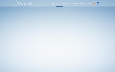 Screenshot of About Page florianalt.net - ABOUT | Florian Alt – Design & Visual Effects - captured Oct. 6, 2014