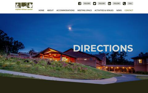 Screenshot of Maps & Directions Page capitalretreat.org - Directions | Capital Retreat Center | Waynesboro, PA - captured Sept. 26, 2018