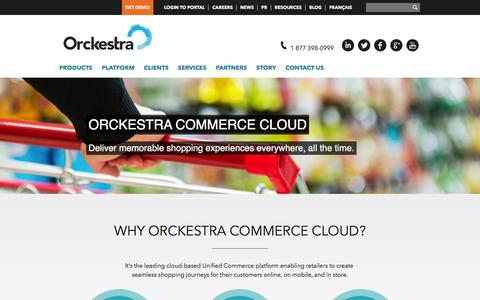 Screenshot of Products Page orckestra.com - Orckestra Commerce Cloud - captured Feb. 18, 2016