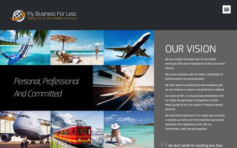 Screenshot of About Page flybusinessforless.com - About Us | Fly Business for Less � Fly Business for Less - captured Jan. 8, 2016