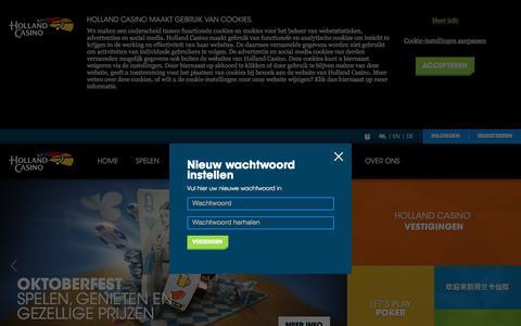 Forgot Password - Holland Casino