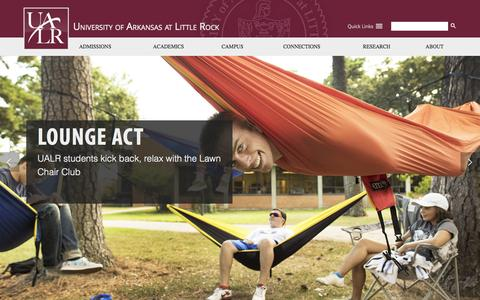 Screenshot of Home Page ualr.edu - University of Arkansas at Little Rock | UALR - captured Oct. 2, 2015