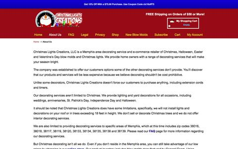 Screenshot of About Page christmaslightscreations.com - About Us | Christmas Lights Creations - captured Feb. 17, 2017