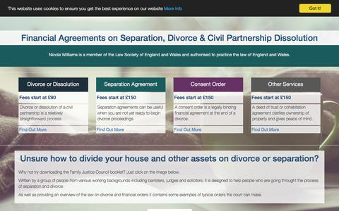 Screenshot of Home Page nicolawilliams.co.uk - Divorce Solicitor Mediator - captured Nov. 30, 2016