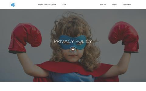 Screenshot of Privacy Page regretfreelife.net - Privacy Policy - captured Oct. 20, 2018