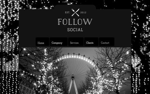 Screenshot of Home Page followsocial.co.uk - FollowSocial - Restaurant Social Media Management - captured Aug. 3, 2015