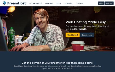 Screenshot of Site Map Page dreamhost.com - Web Hosting, Domains, VPS, Dedicated and WordPress Hosting – DreamHost - captured Sept. 16, 2014