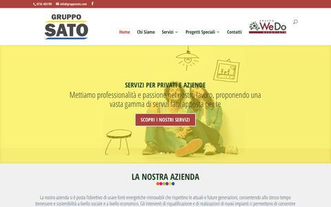 Screenshot of Home Page grupposato.com - Gruppo SATO | SATO Impianti - captured May 25, 2017
