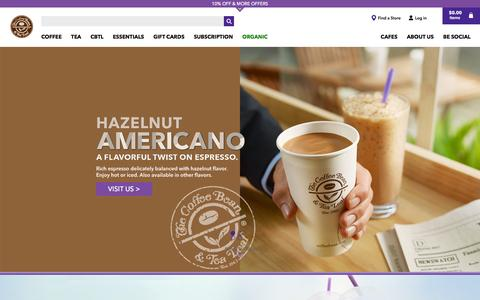 Screenshot of Home Page coffeebean.com - The Coffee Bean & Tea Leaf Official Store - captured Feb. 4, 2016