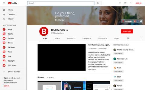 Bitdefender - YouTube - YouTube