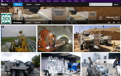 Screenshot of Flickr Page flickr.com - Flickr: ZECK GmbH's Photostream - captured Oct. 25, 2014
