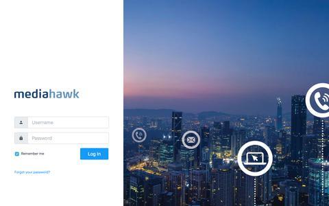 Screenshot of Login Page mediahawk.co.uk - Mediahawk - Login - captured July 10, 2019
