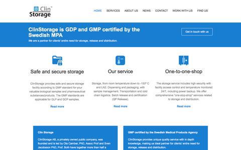 Screenshot of Home Page clinstorage.se - Start - ClinStorage - captured Aug. 5, 2017