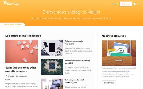Screenshot of Blog mailjet.com - Blog Email Marketing - captured June 27, 2019
