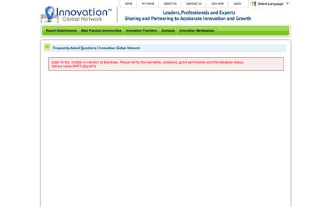Screenshot of FAQ Page innovationglobalnetwork.com - Frequently Asked Questions   Innovation Global Network   Innovation Global Network - captured June 7, 2017