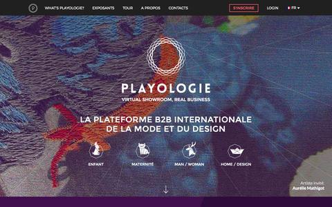 Screenshot of Home Page playologie.com captured July 21, 2015