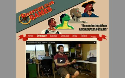 Screenshot of About Page adventureclubgames.com - ACG - About - captured Dec. 24, 2015