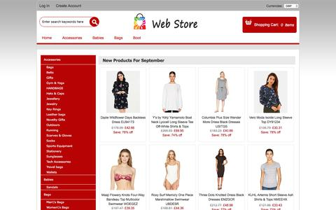 Screenshot of Home Page tailoredmobiles.co.uk - Dresses,Shoes,Bags,Accessories Online,Women's Heels Online shop,Blouse Affordable Prices - captured Sept. 21, 2018