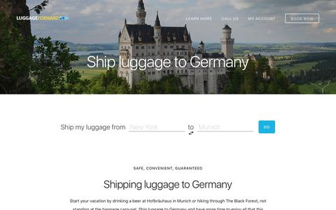 Ship Luggage to Germany - Guaranteed by Luggage Forward®