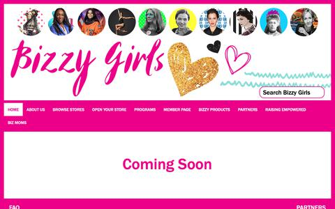 Screenshot of Privacy Page Contact Page Products Page bizzygirls.com - Home - captured Oct. 21, 2018