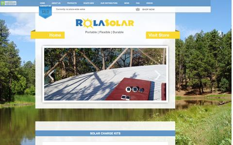 Screenshot of Home Page About Page Privacy Page Contact Page Site Map Page Login Page Terms Page rolasolar.com.au - Rolasolar   Home - captured Oct. 7, 2014