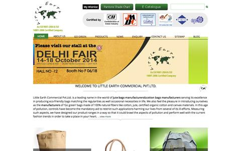 Screenshot of Home Page littleearthgroup.com - Buy Online Bags from Jute Bags Manufacturers and Supplier - captured Sept. 22, 2014