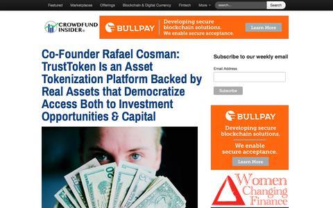 Screenshot of Home Page crowdfundinsider.com - Crowdfund Insider   Global Fintech News and Crowdfunding - captured Feb. 20, 2018