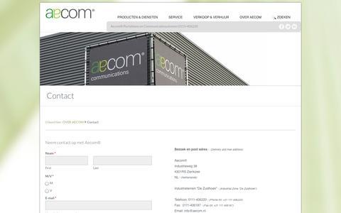 Screenshot of Contact Page aecom.nl - Contact - Aecom - captured Oct. 4, 2014