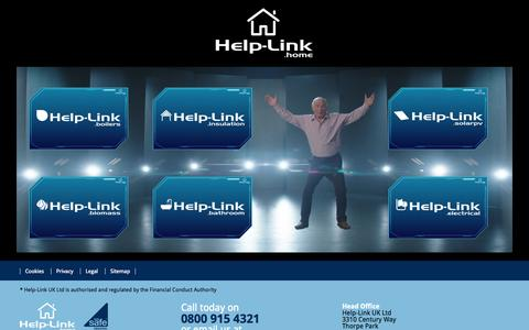 Screenshot of Home Page help-link.co.uk - Boost your savings with Help-Link Home | Help-Link Home - captured Sept. 19, 2014