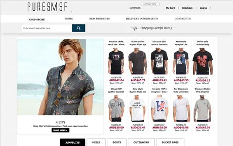 Screenshot of Home Page puresmsf.com.au - Clothing & Shoes Online Shop for Men & Women - 2017 New Fashion SALE - puresmsf.com.au - captured May 24, 2017