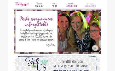 Screenshot of Signup Page thirtyonegifts.com - Become a Consultant | Thirty-One Gifts - captured Sept. 18, 2014